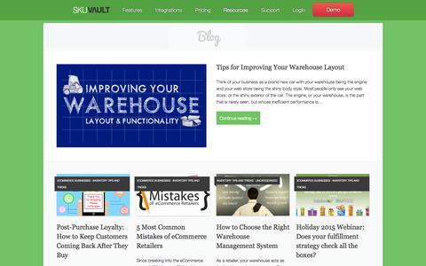 Screenshot of Blog skuvault.com - SkuVault eCommerce Blog - - captured Nov. 20, 2015