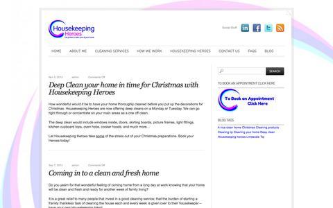 Screenshot of Blog housekeepingheroes.co.uk - The Housekeeping Blog « HouseKeeping Heroes HouseKeeping Heroes - captured Sept. 30, 2014