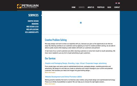 Screenshot of Services Page petralian.com - Services | Petralian Guangzhou Design Company - captured Nov. 10, 2018