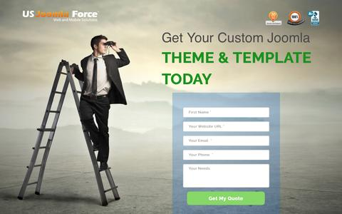 Screenshot of Landing Page usjoomlaforce.com - Custom Joomla Themes | Responsive Templates | USJF - captured Aug. 23, 2016