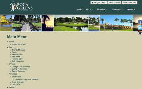 Screenshot of Site Map Page bocagreenscountryclub.com - Boca Greens Country Club | Public Championship Florida Golf Course - Sitemap - captured Jan. 6, 2016