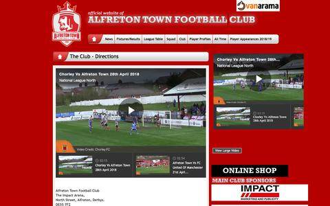 Screenshot of About Page Maps & Directions Page alfretontownfc.com - Alfreton Town FC - captured June 14, 2018