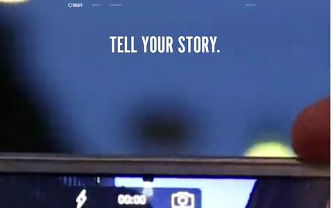 Screenshot of Home Page videofy.me - Videofy — Tell your story - captured Sept. 24, 2014