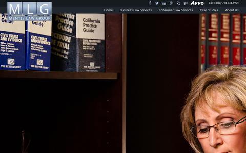 Screenshot of Case Studies Page mentislaw.com - Mentis Law   Case Studies - captured Jan. 9, 2016