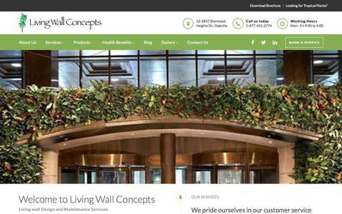 Screenshot of Home Page livingwallconcepts.ca - Home - Living Wall Concepts - captured May 21, 2017