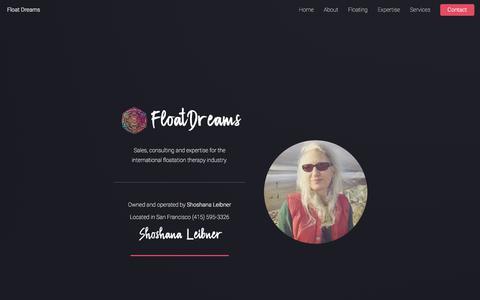 Screenshot of Home Page floatdreams.com captured Aug. 14, 2018
