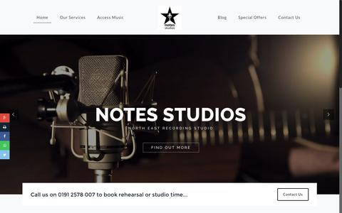 Screenshot of Home Page notes-studios.co.uk - Home - Notes Studios - captured Jan. 30, 2017