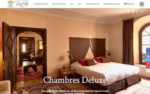 Screenshot of Home Page riadfes.com - Riad Fès - Hôtel & Hébergement de luxe au Maroc | Le plus beau Riad de Fès - captured Jan. 20, 2016