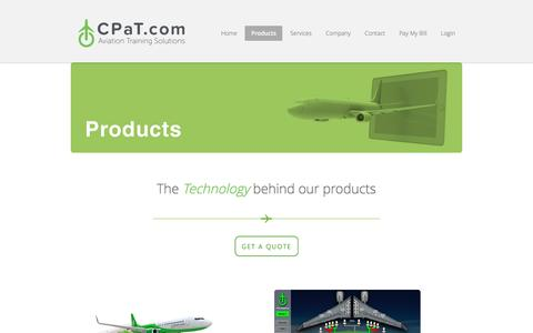 Screenshot of Products Page cpat.com - Products   CPaT Global LLC - captured Oct. 10, 2016