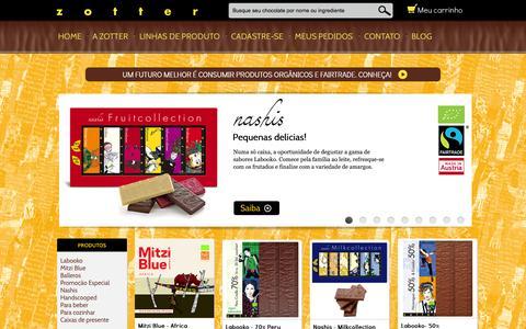 Screenshot of zotterbrasil.com.br - Zotter Brasil - captured Sept. 2, 2015