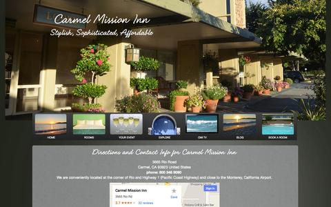 Screenshot of Contact Page carmelmissioninn.com - Directions to the Carmel Mission Inn Hotel | Contact Us - captured Sept. 19, 2014