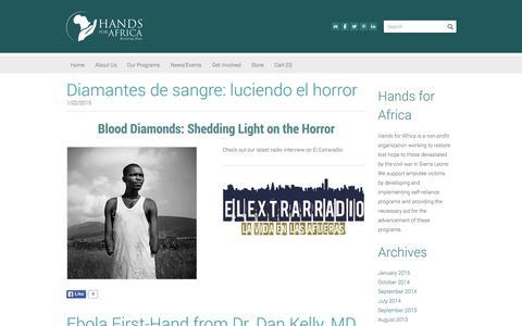 Screenshot of Blog handsforafrica.org - Hands for Africa - Blog - captured Dec. 7, 2015