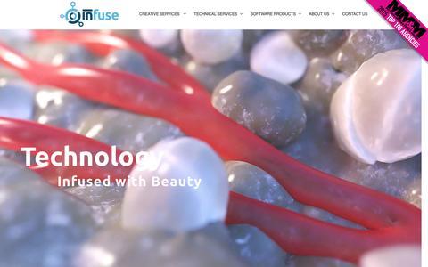 Screenshot of Home Page infusemed.com - Digital Agency Medical Device Marketing- Infuse Medical - captured Nov. 26, 2016