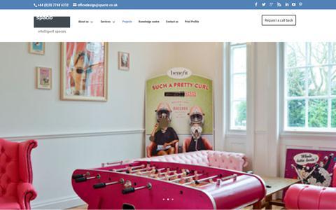 Screenshot of Case Studies Page spacio.co.uk - Projects - Spacio Office Design - captured Nov. 2, 2017