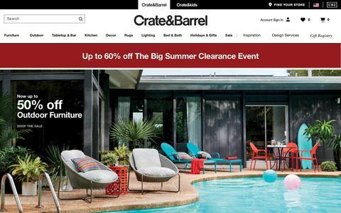 Screenshot of Home Page crateandbarrel.com - Furniture, Home Decor and Wedding Registry | Crate and Barrel - captured June 18, 2019