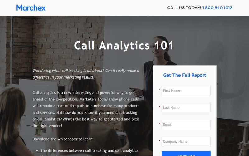 Marchex - Call Analytics 101