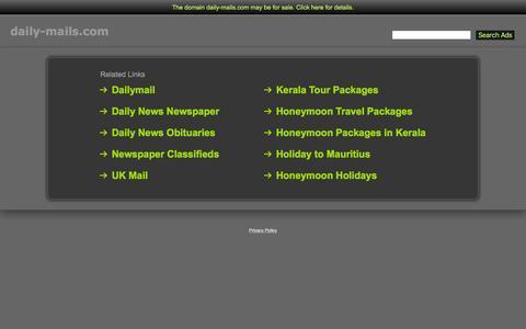 Screenshot of Home Page daily-mails.com - Daily-Mails.com - captured Feb. 29, 2016