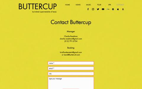 Screenshot of Contact Page wearebuttercup.com - Buttercup | CONTACT - captured July 12, 2018
