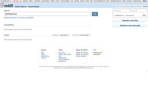 reddit.com: search results - facilitysource