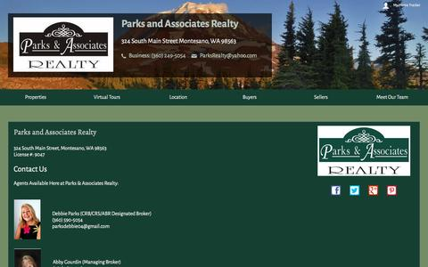 Screenshot of Contact Page parksandassociatesrealty.com captured Jan. 25, 2016