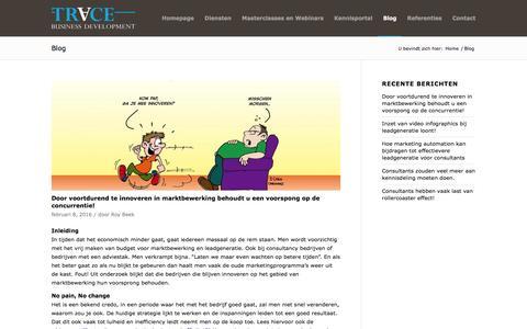Screenshot of Blog tracebd.nl - Trace     Blog - captured Feb. 17, 2016