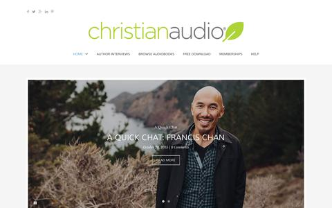 Screenshot of Blog christianaudio.com - christianaudio Blog � Audiobook interviews and more! - captured Jan. 15, 2016