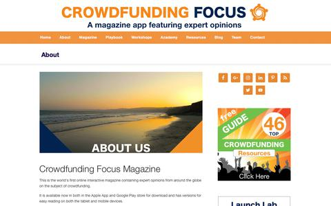 About Crowdfunding Focus — https://crowdfundingfocus.com