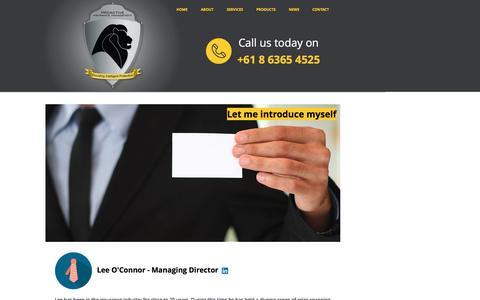 Screenshot of Team Page proactiveinsurance.com.au - Management - captured Nov. 13, 2016