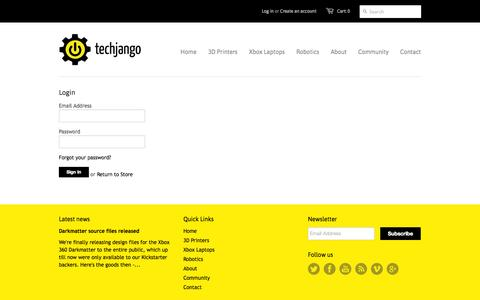 Screenshot of Login Page techjango.com - Account – Techjango - captured Oct. 26, 2014