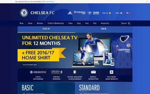 Screenshot of Signup Page chelseafc.com - Join the Club | Security | Official Site | Chelsea Football Club - captured Sept. 4, 2016