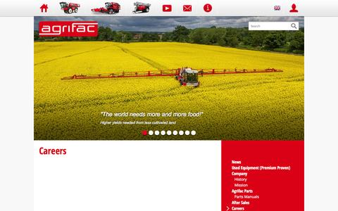 Screenshot of Jobs Page agrifac.com - Agrifac - Careers - captured Oct. 4, 2014