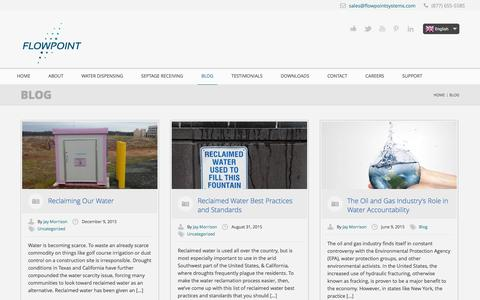 Screenshot of Blog flowpointsystems.com - Blog | Flowpoint Environmental Systems - captured Feb. 10, 2016