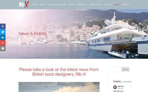 Screenshot of Press Page rib-x.co.uk - Rib-X News & Updates - captured Oct. 22, 2017