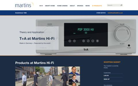 Screenshot of Products Page martinshifi.co.uk - Martins Hi-Fi   Smart Home, Home Cinema Installation & Hifi - captured Nov. 6, 2018