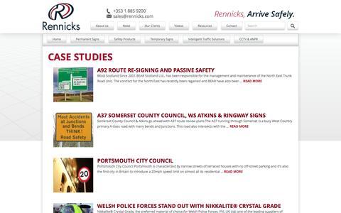 Screenshot of Case Studies Page rennicks.com - Rennicks - captured Nov. 30, 2016