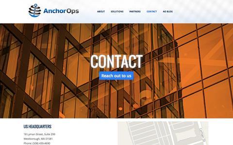 Screenshot of Contact Page anchorops.com - Contact   AnchorOps - captured Sept. 30, 2014
