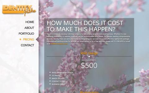 Screenshot of Pricing Page identityplate.com - Identity Plate   Cincinnati, OH   Pricing - captured Sept. 26, 2014