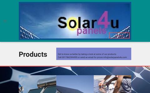 Screenshot of Products Page solarpanels4u.com - Solarpanels4u - captured Sept. 21, 2018