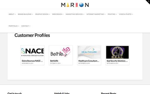 Customer Profiles - Marion Integrated Marketing