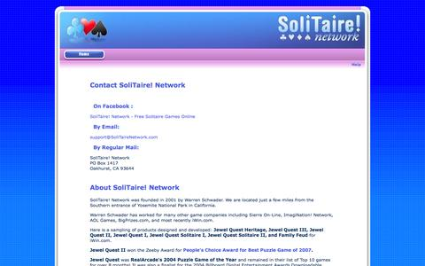 Screenshot of Contact Page solitairenetwork.com - SoliTaire! Network - Contact Us - captured Sept. 19, 2014