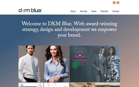 Screenshot of Home Page dkmblue.com.au - Award-winning Strategy sourcing, design branding in Australia - captured Jan. 28, 2015
