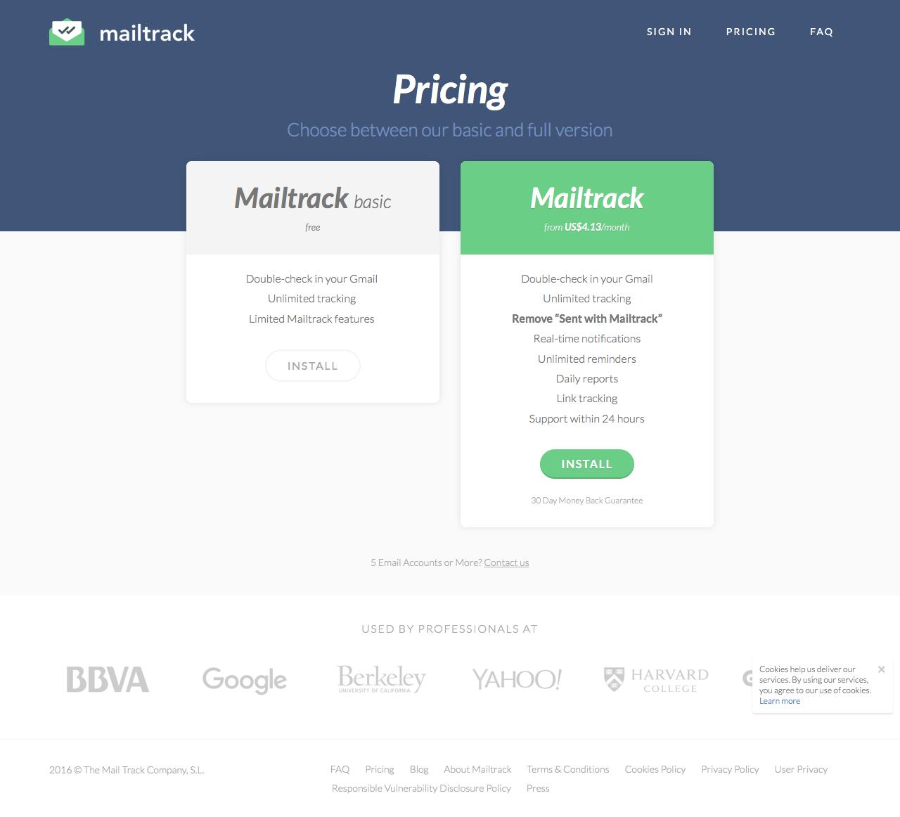 pricing page a/b test