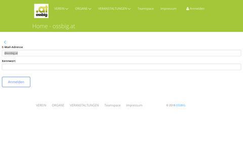 Screenshot of Login Page ossbig.at - Home - ossbig.at - OSSBIG - captured Sept. 20, 2018