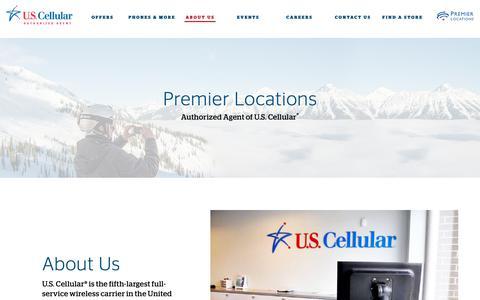 Screenshot of About Page uscellular.com - About Premier Locations   U.S. Cellular Retailer - captured Dec. 15, 2018