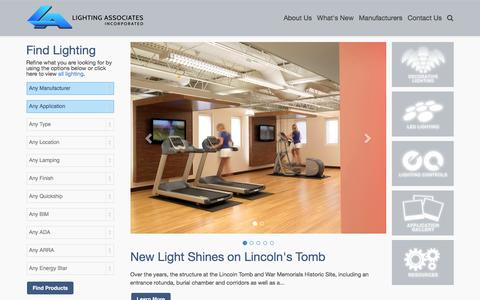 Screenshot of Home Page laiweb.net - Home - Lighting Associates is the foremost lighting expert in Missouri and southern Illinois area. - captured Jan. 29, 2016