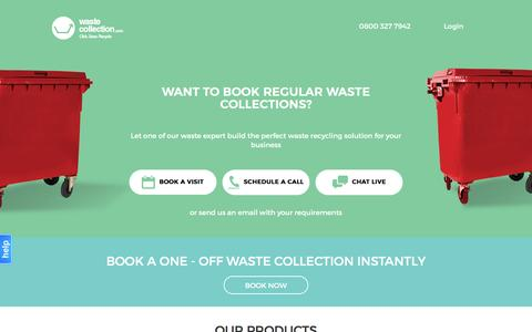 Screenshot of Home Page wastecollection.com - Waste Collection | Waste Removal and Recycling in London - captured Nov. 25, 2016
