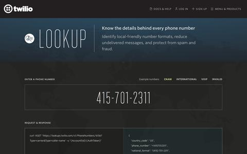 Phone Validator API to Check Numbers & Look Up Carriers - Twilio