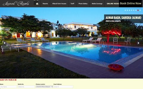 Screenshot of Contact Page aamod.in - AAMOD RESORT - Best Resorts at Shoghi | Dalhousie | Manali | Narkanda | Bhimtal | Manesar | Udaipur | Alwar - captured Feb. 17, 2016