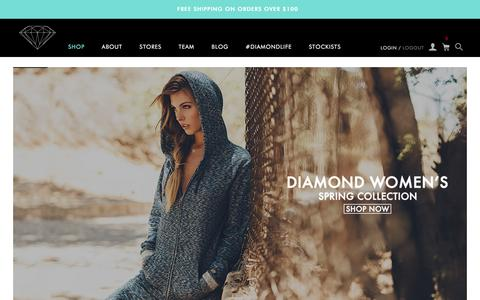 Screenshot of Home Page diamondsupplyco.com - Diamond Supply Co l Official Store - captured Feb. 18, 2016