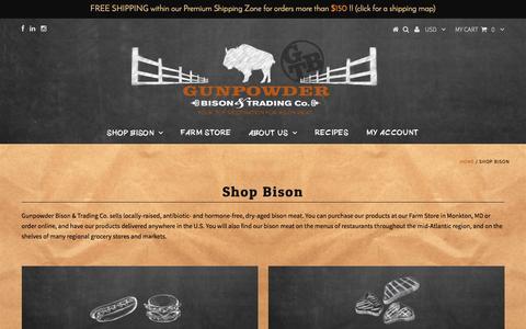 Screenshot of Products Page gunpowderbison.com - Shop Bison – Gunpowder Bison & Trading Co. - captured Nov. 16, 2016